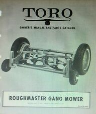 TORO ROUGHMASTER Gang Reel Mower GENERAL Tractor Implement Owner & Parts Manual
