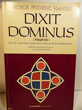 1975 Handel Dixit Dominus Psalm 110 Soli & Mixed Chorus with Piano & Organ Music