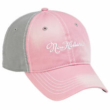 NEW HOLLAND Ladies *PINK & GRAY* BLEACHED Trademark LOGO CAP HAT *BRAND NEW!*
