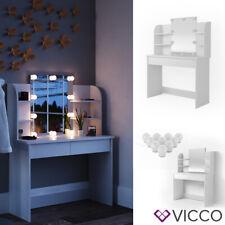 Vicco Table de maquillage Charlotte commode de coiffeuse miroir LED blanc