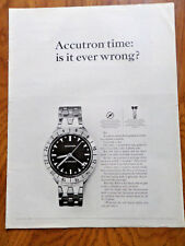 1964 Accutron by Bulova Ad Accutron Time Is it ever Wrong?
