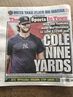 December 12 2019 New York Post Gerrit Cole Yankees Contract Tabloid