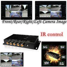 4 Way Parking View 4 Cameras Video Image Split-Screen Control Box Converter New
