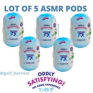 Lot of (5) Sensory FX ASMR Mystery Pods Oddly Satisfying Sounds (Series 1) - NEW