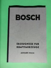 Bosch Katalog 1933/34 Kraftfahrzeuge