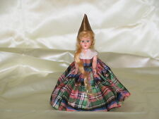 "Doll 6"" hard plastic Molded Arts Corp New York Long Blonde pointed hat Rapunzel"