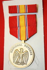 ORIGINAL US ISSUE NATIONAL DEFENSE DEFENCE MEDAL WITH RIBBON & BAR
