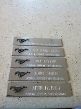1965-1966 MUSTANG NOS RARE ORIGINAL PROMOTIONAL DASH NAME PLATE NEW IN PACKAGE