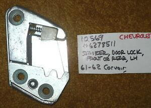 1961-62 Chevrolet Corvair LH Front or Rear Door Lock Striker - NOS 6278511