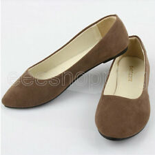 Womens Casual Slip-on Loafers Flat Dolly Sweet Shoes Ballet Ballerina Slippers