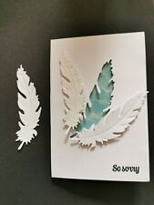 10 White Die Cut Feathers Topper Scrapbook
