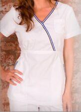 """NWT KOI """"ALI"""" XL (16) Sporty White Nursing Uniform Medical Scrub Top NEW"""
