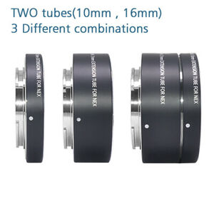 MCOPLUS Metal Auto Focus Macro Extension Tube Ring(10+16mm) for Sony FE/E-Mount