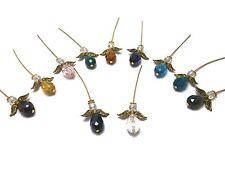 Angel Bead Pendant Kit Gold Glass 10 Angels Jewellery gift wedding Christmas