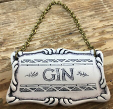 Comoy's Gin Alcohol Tag Label Decanter London England Liquor Bottle Comoys Chain