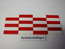 24 Bulk Lego 1x4 FINISHING TILES PLATES Smooth Flat Red & White Floor Roof +