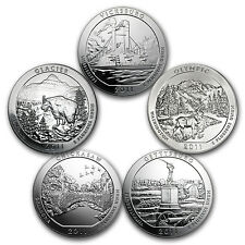 2011 5-Coin 5 oz Silver America the Beautiful Set - SKU #98458