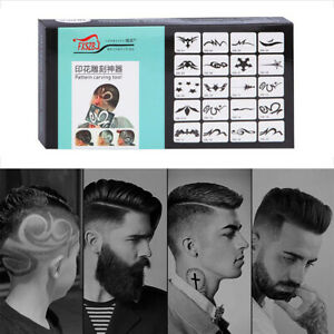 20x Mix Hair Styling Tattoo Template DIY Hairdressing Trimmer Model Stencil