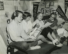1950s Collage Girls in cabin for summer camp 8 x 10 Photograph