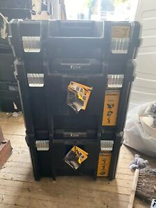 DEWALT  T Stak Boxes Deep X2 And Dewalt Drill Box