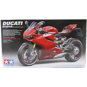 Tamiya 14129 Ducati 1199 Panigale S Motorcycle Model Kit 2014 Spec Scale 1:12