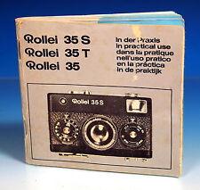 Rollei 35 S / T Gebrauchsanleitung instruction mode d'emploi - (90786)