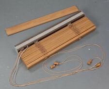 Wooden Venetian Blind, Oak Effect, 595mm x 1350mm, Used