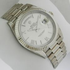 Rolex Day-Date White Gold 40mm 228239 Silver Quadrant Motif Dial Ret: $37,550