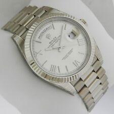 Rolex Day-Date White Gold 40mm 228239 Silver Quadrant Motif Dial Ret: $37,550