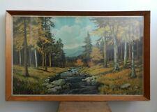 Alex Dzigurski - vintage large lithograph print - 'Autumn Morn' landscape framed