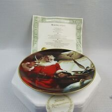 Santa Making a List  Franklin Mint Plate #HC6151 (1C2) with A Coke