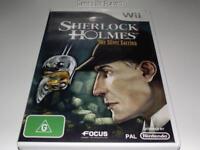 Sherlock Holmes The Silver Earring Nintendo Wii PAL *Complete* Wii U Compatible