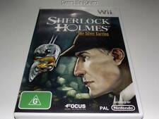 Sherlock Holmes The Silver Earring Nintendo Wii PAL *Complete* Wii U Compatible