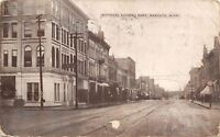 Mankato Minnesota~Citizen's Bank~Furniture~Street Clock~1909 B&W Postcard
