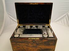 A VANITY TRAVEL SET IN BOX SECRET COMPARTMENTS LONDON 1859 SAMSON MORDEN & CO