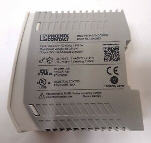 PHOENIX CONTACT POWER SUPPLY UNO-PS/1AC/24DC/60W INPUT 100-240V TESTED & WORKING