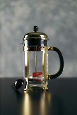 French press - Bodum chambord - 8 Cs. - gold color - w/ Peet's logo