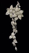 "7"" Rhinestone Brooch Wedding Cake Skirt Sarong Crystal Flower Pin Decoration #59"