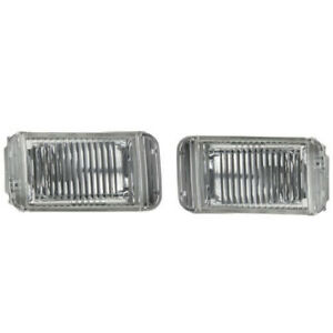 1990-1996 Nissan 300ZX Left Driver & Right Passenger Fog Light Lamp Lens Set OEM