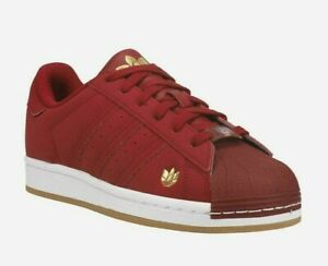 adidas Superstar FZ2141 Lace Up Men's Sneakers Shoes Casual Burgundy Red New