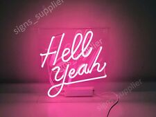 "New Hell Yeah Neon Sign Acrylic Gift Light Lamp Bar Wall Room Decor 14""x10"""