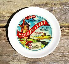 """""""Moulin a Vent J. Valette Camembert Affine"""" Cheese Plate Dish Wind Mill Castle"""