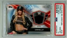 Carmella 2019 WWE Road to Wrestlemania shirt relic PSA 10 LOW POP
