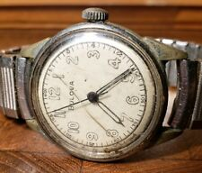 Vintage 1940s Bulova Military Style Manual Wind Wrist Watch