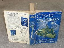 Clifford Simak - Cosmic Engineers - HB/DJ 1st ed 1950 Gnome Press - Way Station