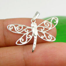 Fancy Wings Dragonfly Animal Pendant Charm Genuine 925 Sterling Silver - P160