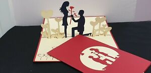 3D Pop Up Card.(VALENTINE, Engagement, Anniversary, Wedding or Someone in Love.