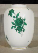 Fine Vienna Augarten Porcellane Green Rose Vase c 1923 or later
