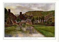 Esch an der Sauer in Luxemburg XL Kunstdruck 1912 von Louis Oppenheim Berlin