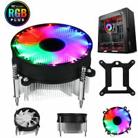 CPU Heatsink Cooler Colorful RGB LED Fan 3 Pin for Intel LGA1156/1155/1151/1150